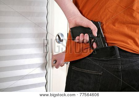 Man armed for protection