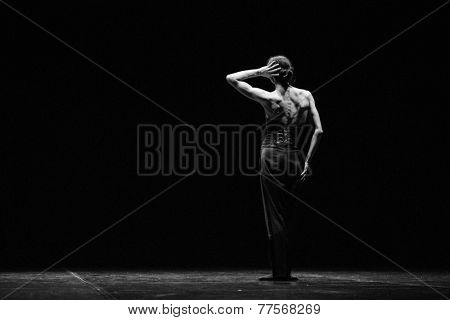 MOSCOW - NOVEMBER, 29: Tue. Diana Vishneva. Rehearsal. Festival of  Contemporary choreography