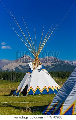 Authentic tepee of Native North Americans
