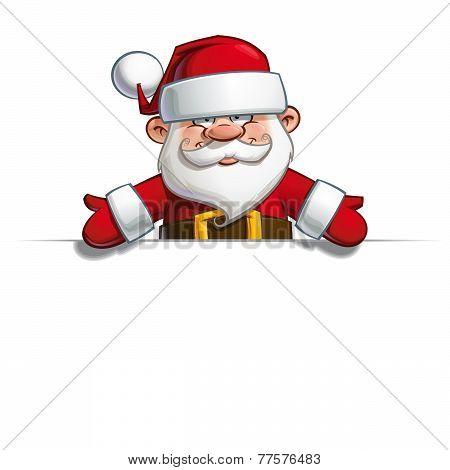 Happy Santa - Empty Label Open Hands