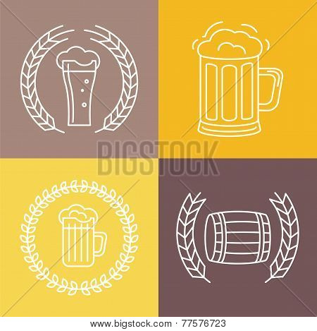 Vector Beer Logos And Signs