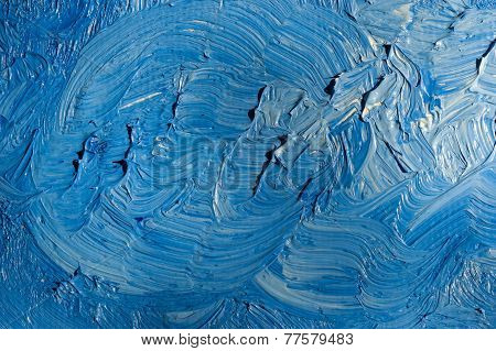dried blue paint background