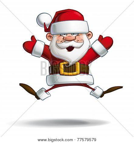 Happy Santa - Parachute Open Hands
