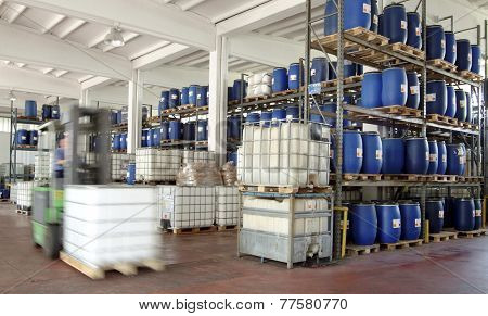 industry, chemical warehouse