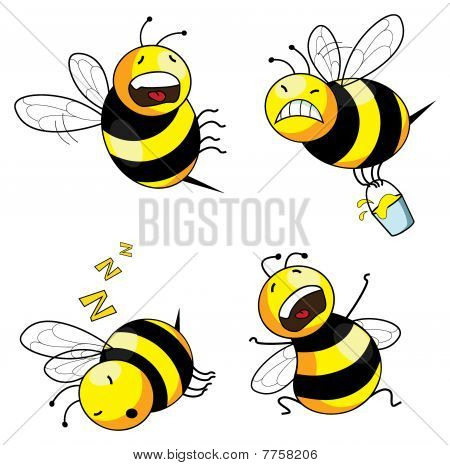 emotion bee comic character