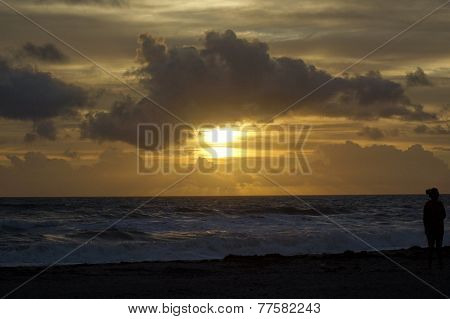 Sunrise Over the Ocean