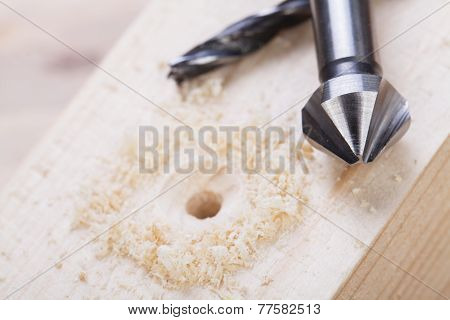 Battery Operated Hand Drill And Bit