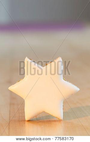 Cinnamon star christmas cookie