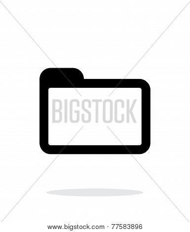 Folder icon on white background.