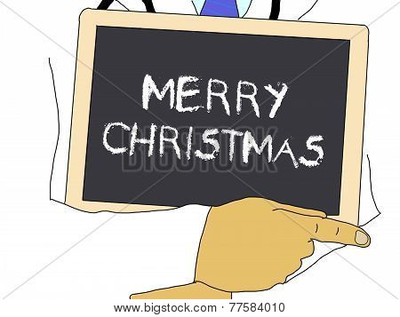 Illustration: Doctor Shows Information: Merry Christmas