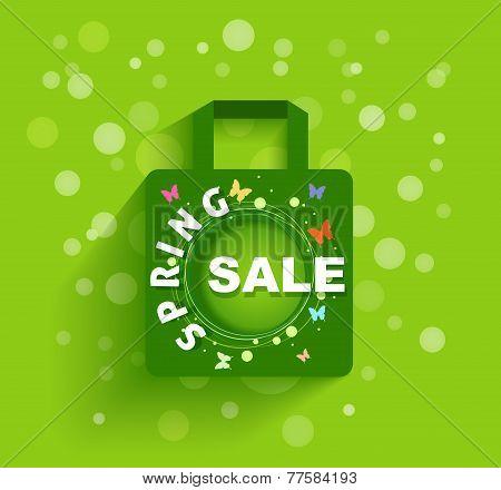 Shopping Bag Spring Sale Background