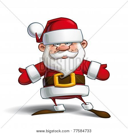 Happy Santa - Open Hands