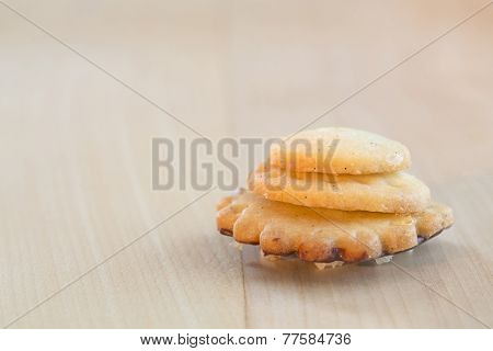 Christmas cookie on a wooden table