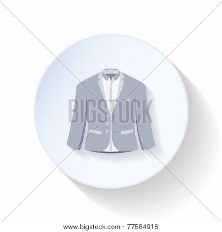 Suit, Jacket With A Shirt Flat Icon