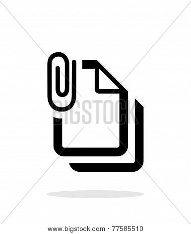 Attached files icon on white background.