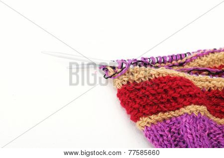 Colored Handmade Needle Knitting