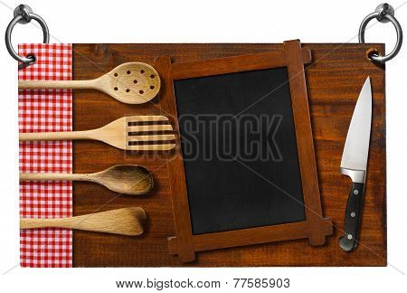 Restaurant Signboard With Clipping Path
