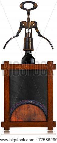 Wine List Empty Blackboard