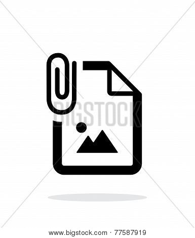 Attached Photo file icon on white background.