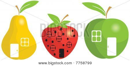 fruit small houses