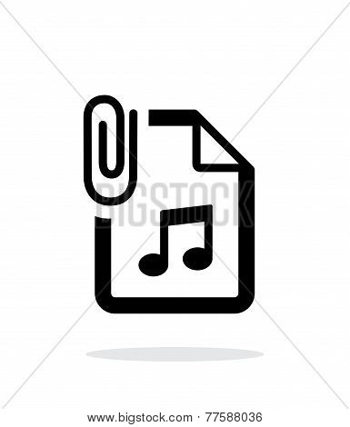 Attached Audio file icon on white background.