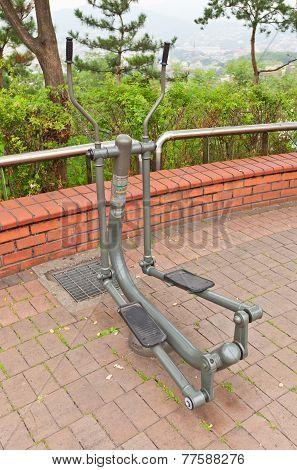 Exercise Machine Stepper In Naksan Park Of Seoul, Korea