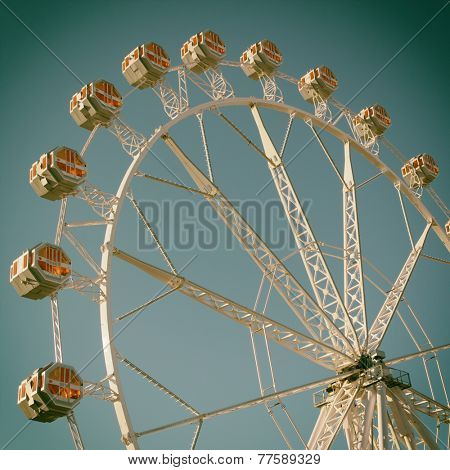 Ferris Wheel with filter effects applied.
