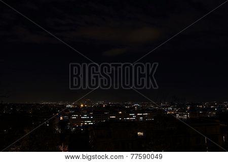 Garbatella District At Night , Rome, Italy