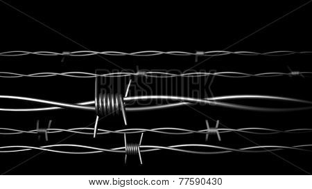 Fance.barbed Wire. Concept.