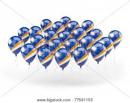 Balloons With Flag Of Marshall Islands