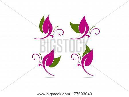 Fashion Butterfly logo symbol design