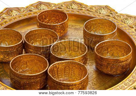 Gold Cups With Clipping Path