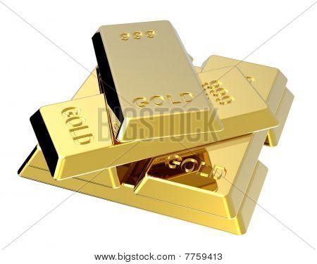 Gold Barren, isoliert auf weiss