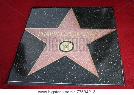 LOS ANGELES - DEC 4:  Pharrell Williams' Star at the Pharrell Williams Hollywood Walk of Fame Star Ceremony at the W Hotel Hollywood on December 4, 2014 in Los Angeles, CA