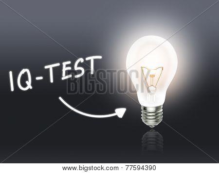 Iq-test Bulb Lamp Energy Light Gray