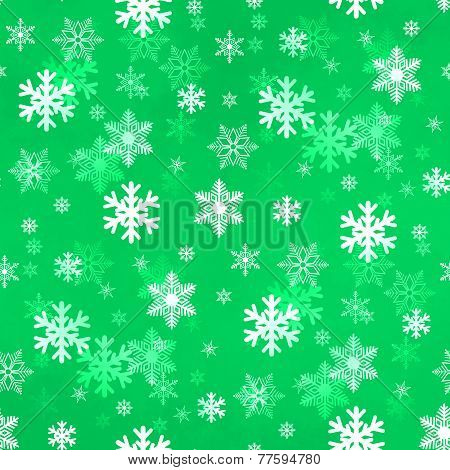 Light Green Snowflakes