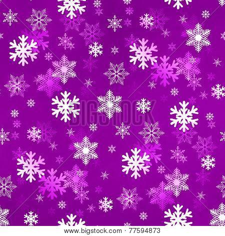 Light Lilac Snowflakes