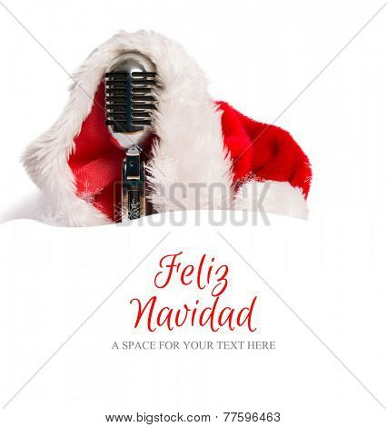 Feliz navidad against snow border