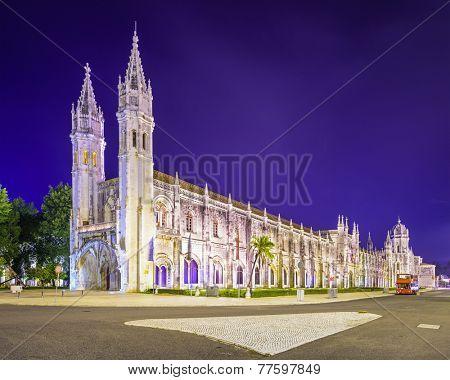 Belem, Lisbon, Portugal at Jeronimos Monastary.