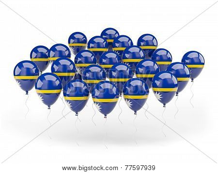 Balloons With Flag Of Nauru