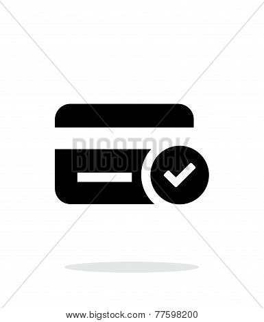 Credit card access icon on white background.