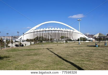 View Of Moses Mabhida Stadium From Durban Promenade