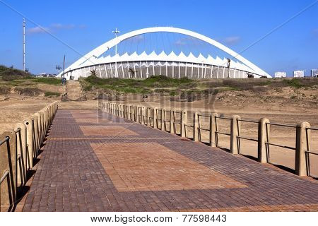 View From  Pier Of Moses Mabhida Stadium