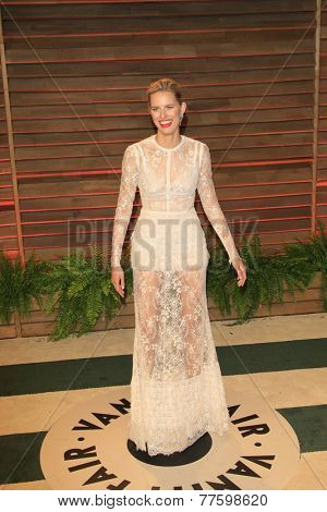 LOS ANGELES - MAR 2:  Karolina Kurkova at the 2014 Vanity Fair Oscar Party at the Sunset Boulevard on March 2, 2014 in West Hollywood, CA