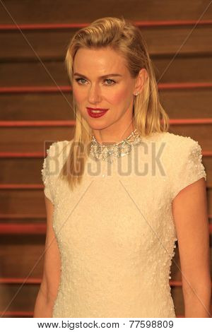 LOS ANGELES - MAR 2:  Naomi Watts at the 2014 Vanity Fair Oscar Party at the Sunset Boulevard on March 2, 2014 in West Hollywood, CA