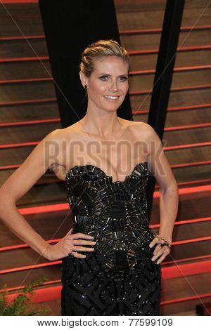 LOS ANGELES - MAR 2:  Heidi Klum at the 2014 Vanity Fair Oscar Party at the Sunset Boulevard on March 2, 2014 in West Hollywood, CA