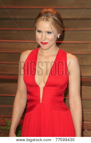 LOS ANGELES - MAR 2:  Kristen Bell at the 2014 Vanity Fair Oscar Party at the Sunset Boulevard on March 2, 2014 in West Hollywood, CA
