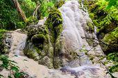 stock photo of tong  - Amazing Of Bua Tong Waterfall In Chiang Mai - JPG