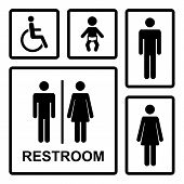 foto of oops  - Vector restroom icons set with men - JPG