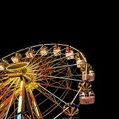 pic of carnival ride  - Carnival Ride isolated over night sky background - JPG